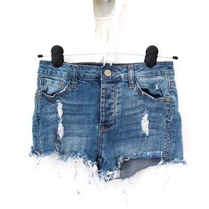 I&M Premium Washed, High Waisted  Raw Hem Shorts